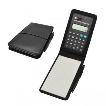 Calculator with PU Note Pad