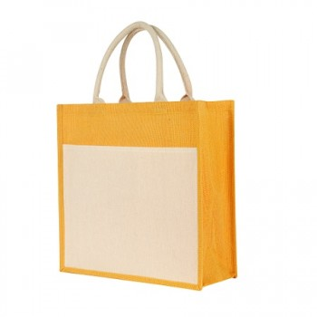 JB-016-Jute-Bag-with-Pocket- YELLOW