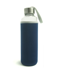 Travel Glass Bottle-Blue
