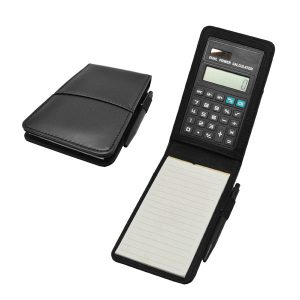 Calculator with PU Note Pad