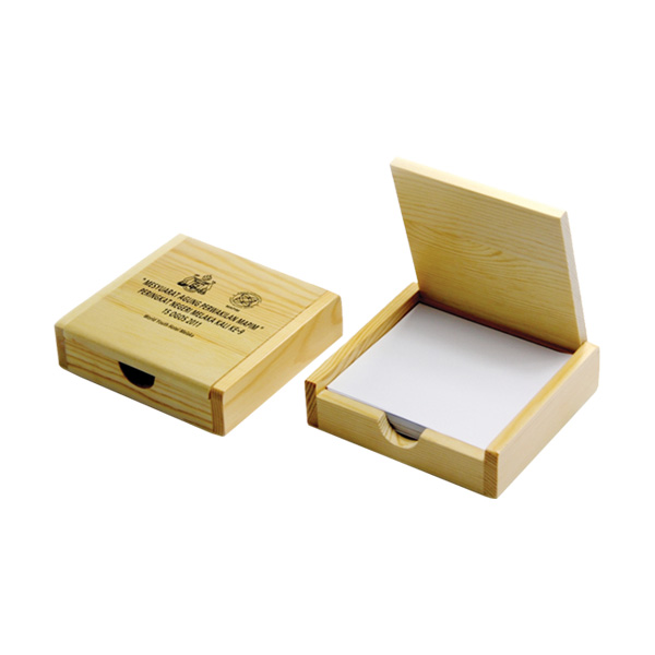 Wooden office memo box supplier buy