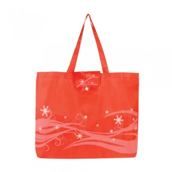 OB-049-Fashionable-Foldable-Bag-Front-View-Red
