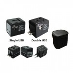 TA-013-Travel-Adaptor-With-Pouch-and-USB-Charger-White-Black-Single-Double